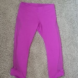 Lululemon cropped leggings size 8